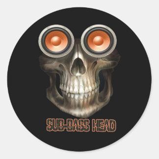 sub bass head Dubstep Classic Round Sticker