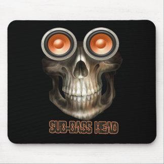 sub bass head Dubstep Mousepad