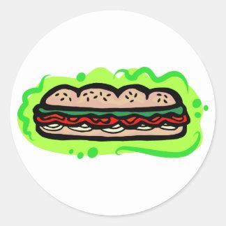 Sub Classic Round Sticker