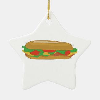 Sub Sandwich Ceramic Ornament
