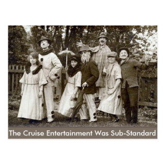 Sub-Standard Cruise Entertainment - Postcard