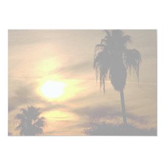 Sub-tropical sunset 5x7 paper invitation card