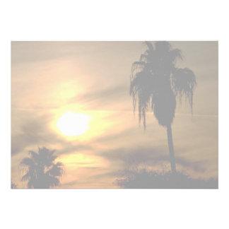 Sub-tropical sunset custom announcements
