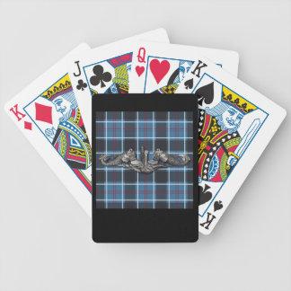 Sub Warfare tartan Bicycle Playing Cards