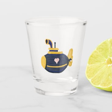 sub wife flove submarine wife cute shot glass