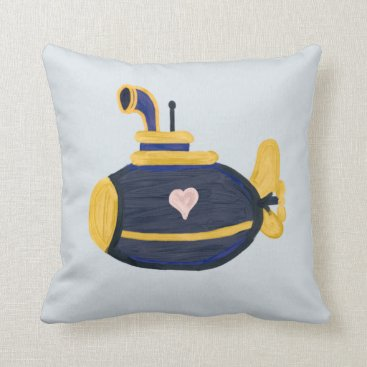 Sub wife love submarine wife throw pillow