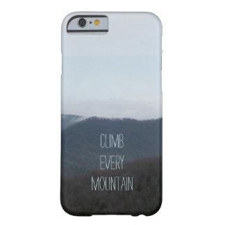 Suba cada caja del iPhone 6 de la montaña Funda De iPhone 6 Barely There