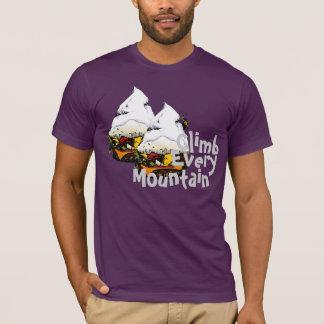 Suba cada camiseta de la hamburguesa de la montaña