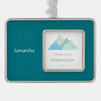 Suba cada cita de encargo inspirada de la montaña adornos navideños