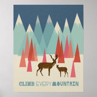 Suba cada montaña - poster 16x20