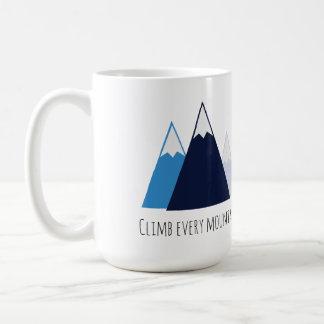 Suba cada montaña taza clásica