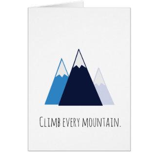 Suba cada notecard de la montaña tarjeta de felicitación