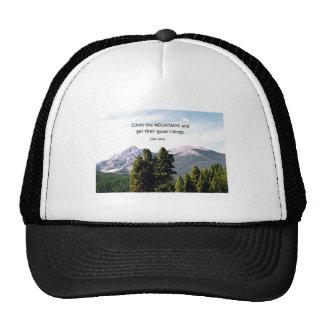 Suba las montañas y consiga su bueno…. gorras