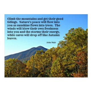 Suba las montañas y consiga su bueno…. postales