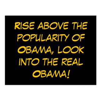 Suba sobre el renombre de Obama, mire en t… Postal