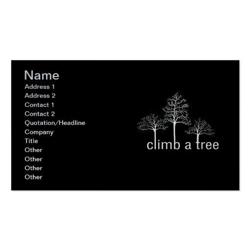Suba un diseño del árbol tarjeta de negocio