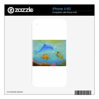 Subacuático Calcomanías Para El iPhone 4