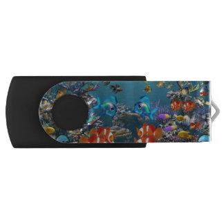 Subacuático Memoria USB 2.0 Giratoria