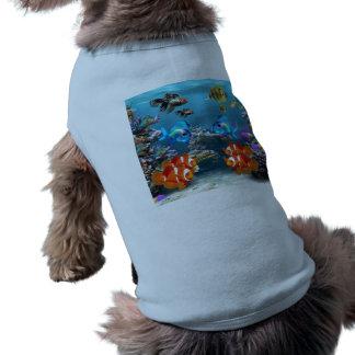 Subacuático Playera Sin Mangas Para Perro
