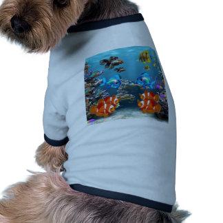 Subacuático Camiseta Con Mangas Para Perro