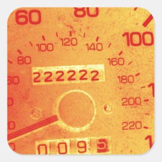 Subaru 222,222 Mile Odometer Square Sticker