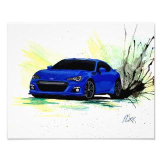 Subaru BRZ Watercolor Painting Print