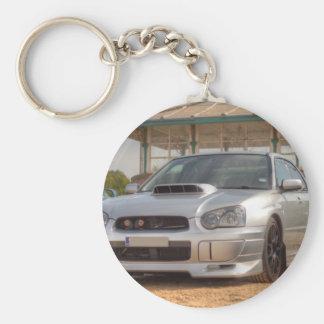 Subaru Impreza STi - Body Kit (Silver) Basic Round Button Keychain
