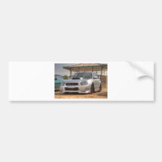 Subaru Impreza STi - Body Kit (Silver) Car Bumper Sticker