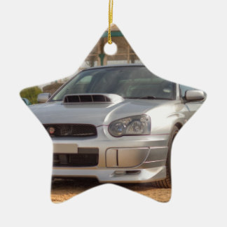 Subaru Impreza STi - Body Kit (Silver) Ceramic Ornament