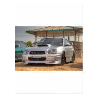 Subaru Impreza STi - Body Kit (Silver) Postcard