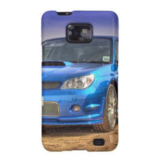 """Subaru Impreza STi """"Hawkeye"""" in Blue Samsung Galaxy SII Case"""