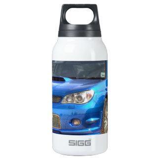"Subaru Impreza STi ""Hawkeye"" in Blue Insulated Water Bottle"