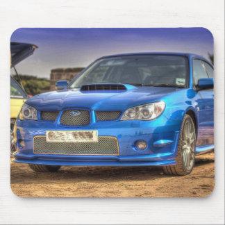 """Subaru Impreza STi """"Hawkeye"""" in Blue Mouse Pad"""