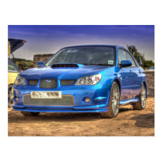 "Subaru Impreza STi ""Hawkeye"" in Blue Postcard"