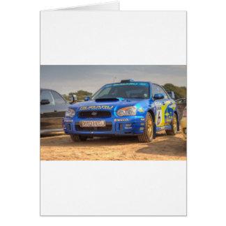 Subaru Impreza STi SWRT Stickers Card