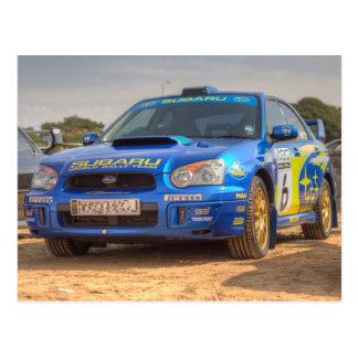 Subaru Impreza STi SWRT Stickers Postcard