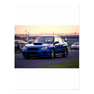 Subaru Impreza WRX STi Postcard