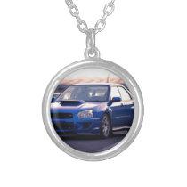 Subaru Impreza WRX STi Silver Plated Necklace