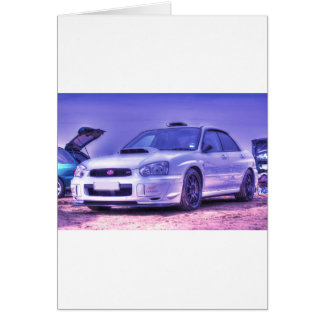 Subaru Impreza WRX STi Spec C in White Greeting Card