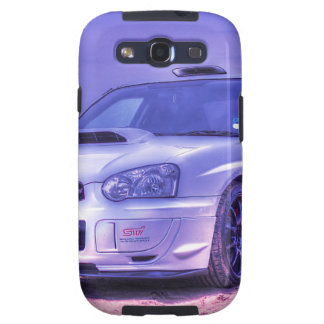 Subaru Impreza WRX STi Spec C in White Samsung Galaxy SIII Cases