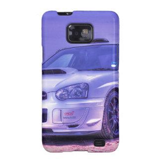 Subaru Impreza WRX STi Spec C in White Samsung Galaxy S2 Case