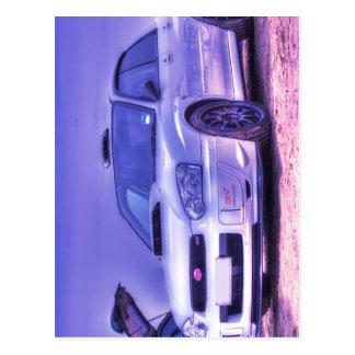 Subaru Impreza WRX STi Spec C in White Postcard