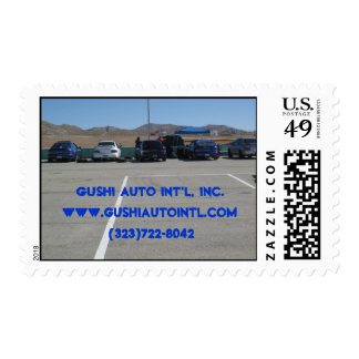 Subaru Imprezas at the track Postage Stamps