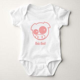 Subaru Mascot Pig Baby Bodysuit