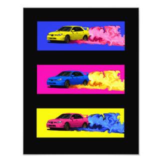 Subaru STi Drift in Color Photo Print