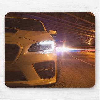 Subaru STi Front Light Painting Mouse Pad