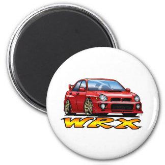 Subaru WRX_red Imán Redondo 5 Cm