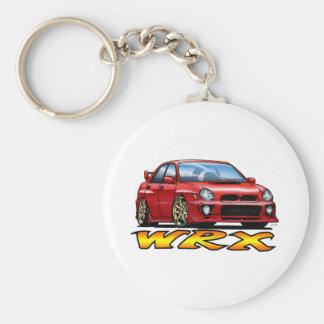 Subaru WRX_red Llavero Redondo Tipo Pin