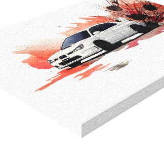 Subaru WRX STi Drift Painting Canvas Print