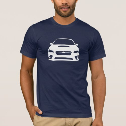Subaru WRX STI Outline T_Shirt Dark Mens
